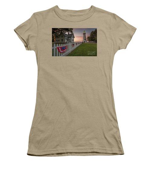 Marblehead Memorial  Women's T-Shirt (Junior Cut) by James Dean