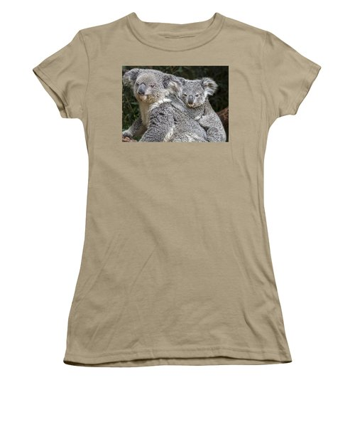 Mommy Hugs Women's T-Shirt (Junior Cut) by Jamie Pham