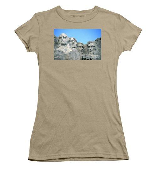 Mount Rushmore Women's T-Shirt (Junior Cut) by American School