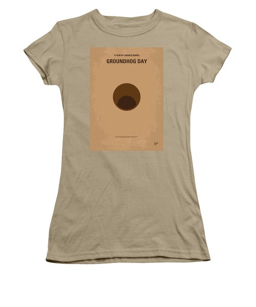 No031 My Groundhog Minimal Movie Poster Women's T-Shirt (Junior Cut) by Chungkong Art