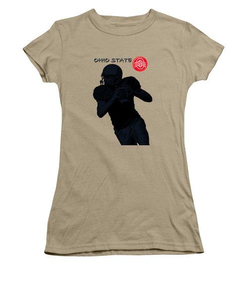 Ohio State Football Women's T-Shirt (Junior Cut) by David Dehner