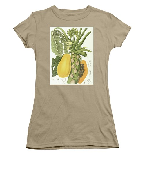 Papaya Women's T-Shirt (Junior Cut) by Berthe Hoola van Nooten