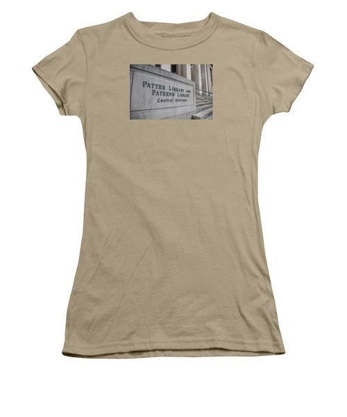 Paterno Library At Penn State  Women's T-Shirt (Junior Cut) by John McGraw