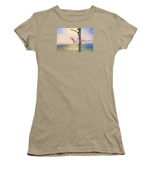 Pink Wonder Women's T-Shirt (Junior Cut) by Bonnie Barry