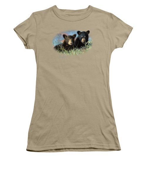 Playmates Women's T-Shirt (Junior Cut) by Lucie Bilodeau