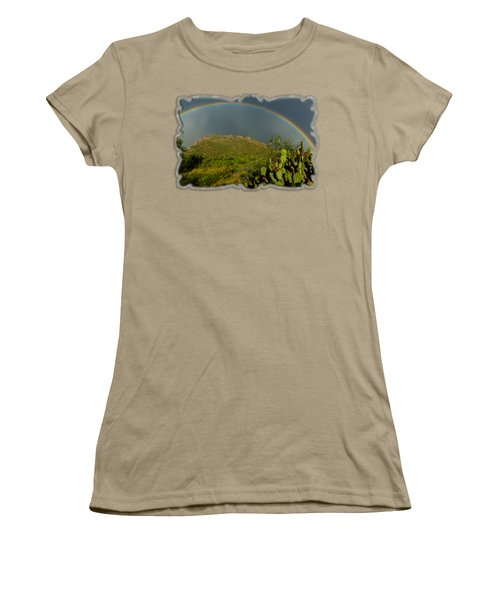 Pusch Ridge Rainbow H38 Women's T-Shirt (Junior Cut) by Mark Myhaver