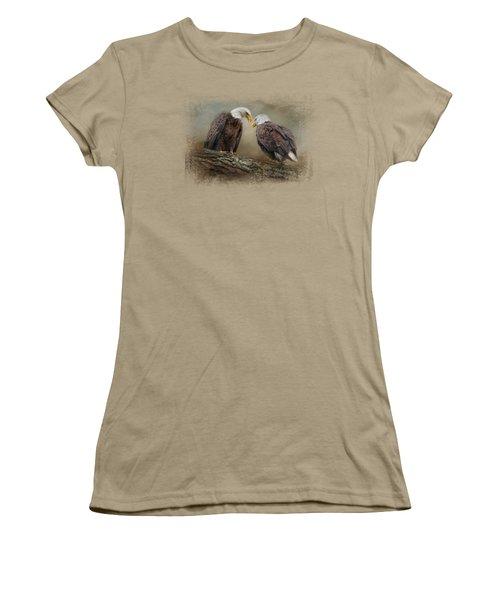 Quiet Conversation Women's T-Shirt (Junior Cut) by Jai Johnson