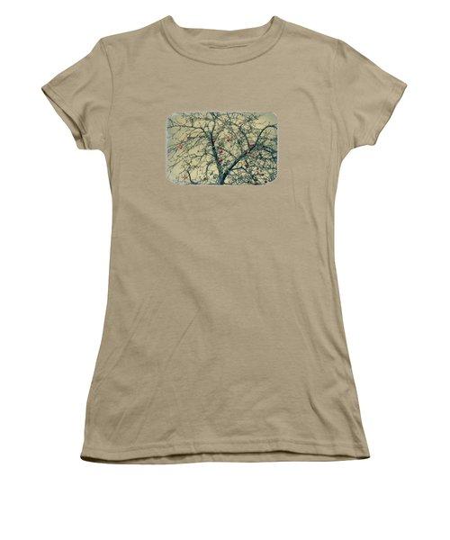 Red Apples In Empty Garden Women's T-Shirt (Junior Cut) by Konstantin Sevostyanov