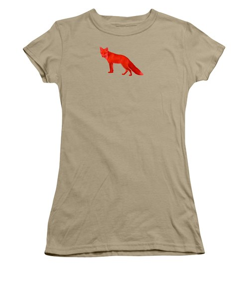 Red Fox Forest Women's T-Shirt (Junior Cut) by Movie Poster Prints