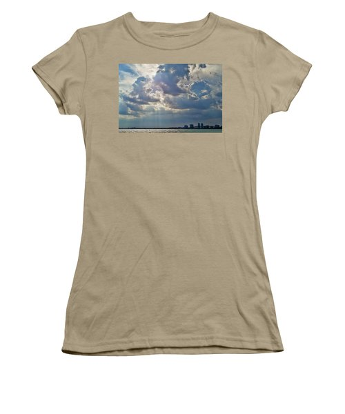 Riding In The Storm Women's T-Shirt (Junior Cut) by Camille Lopez