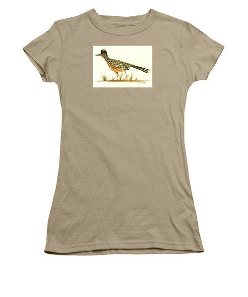 Roadrunner Bird Women's T-Shirt (Junior Cut) by Juan Bosco