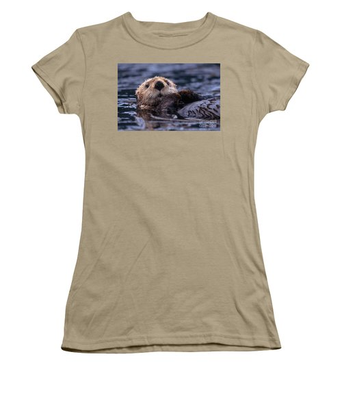 Sea Otter Women's T-Shirt (Junior Cut) by Yva Momatiuk and John Eastcott and Photo Researchers