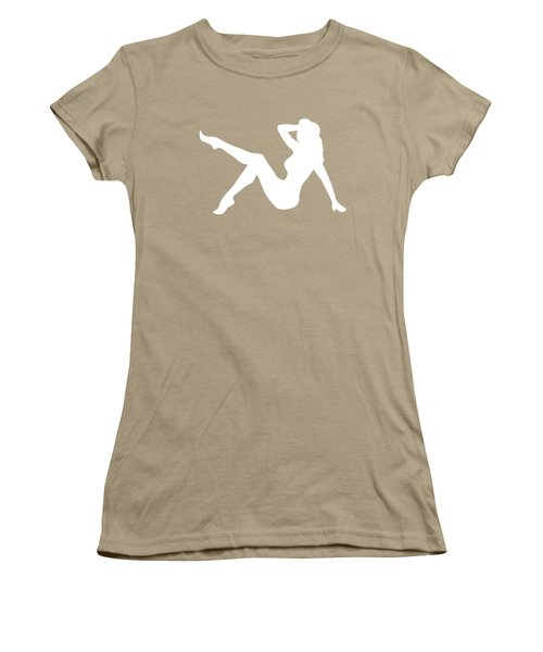Sexy Trucker Girl White Tee Women's T-Shirt (Junior Cut) by Edward Fielding