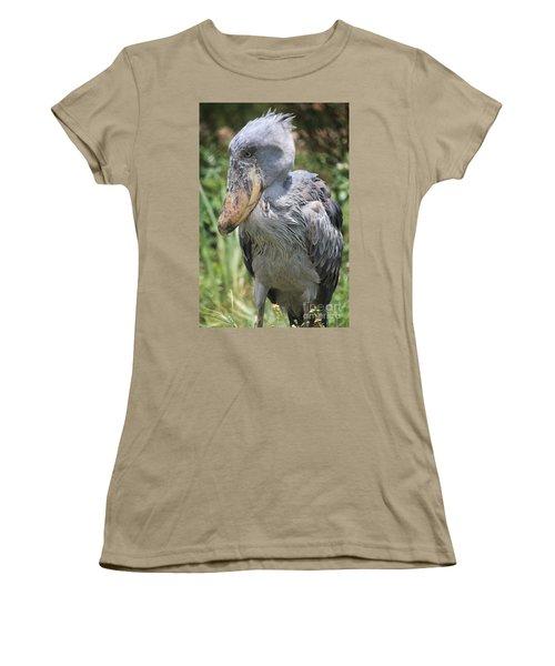 Shoebill Stork Women's T-Shirt (Junior Cut) by Carol Groenen