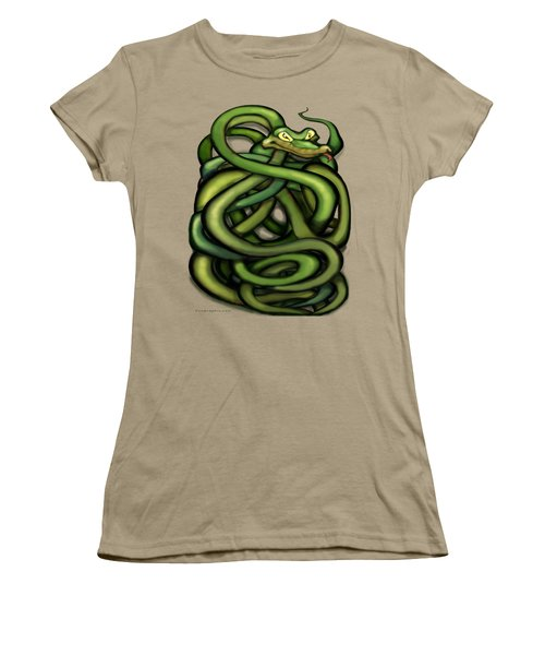 Snakes Women's T-Shirt (Junior Cut) by Kevin Middleton