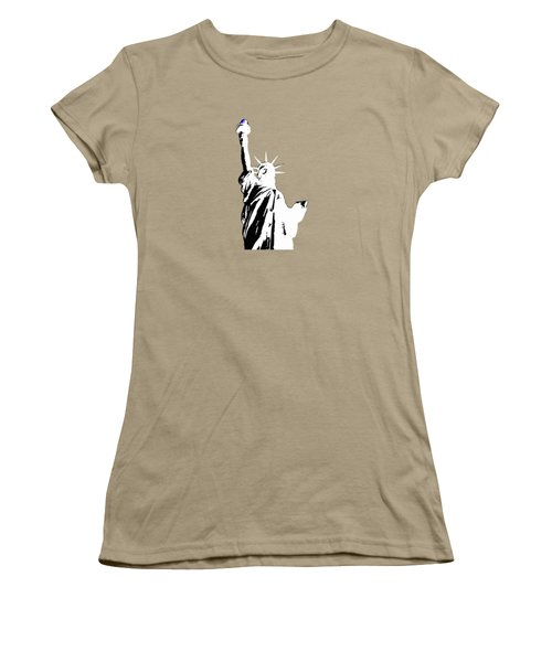 Statue Of Liberty #2 Women's T-Shirt (Junior Cut) by Frederick Holiday
