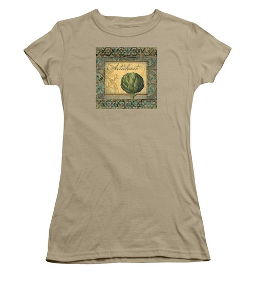 Tavolo, Italian Table, Artichoke Women's T-Shirt (Junior Cut) by Mindy Sommers