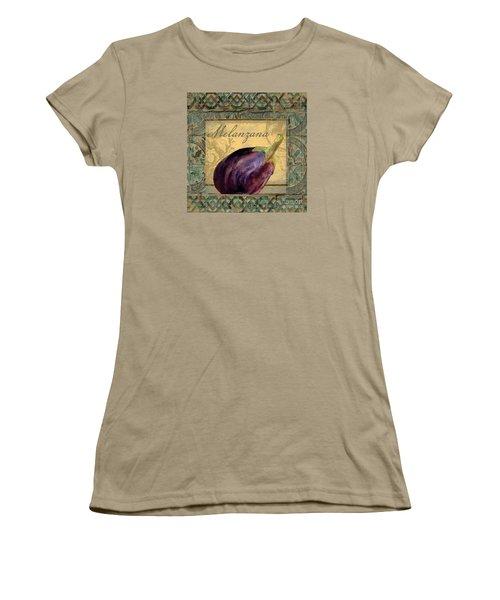 Tavolo, Italian Table, Eggplant Women's T-Shirt (Junior Cut) by Mindy Sommers