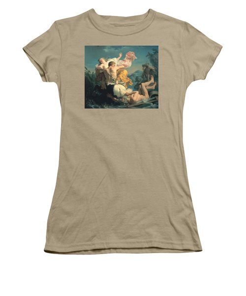 The Abduction Of Deianeira By The Centaur Nessus Women's T-Shirt (Junior Cut) by Louis Jean Francois Lagrenee