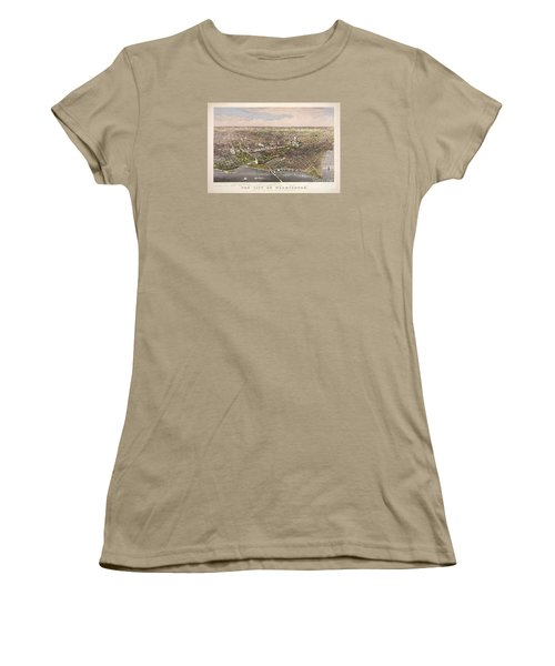 The City Of Washington Women's T-Shirt (Junior Cut) by Charles Richard Parsons