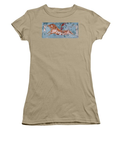 The Toreador Fresco, Knossos Palace, Crete Women's T-Shirt (Junior Cut) by Greek School