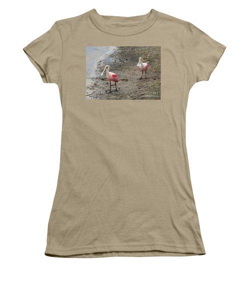 Two Roseate Spoonbills 2 Women's T-Shirt (Junior Cut) by Carol Groenen