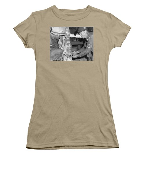 Viet Cong Booby Trap Women's T-Shirt (Junior Cut) by Underwood Archives