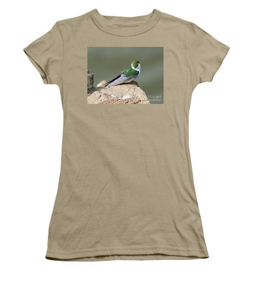 Violet-green Swallow Women's T-Shirt (Junior Cut) by Mike Dawson