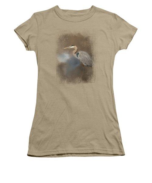 Walking Into Blue Women's T-Shirt (Junior Cut) by Jai Johnson
