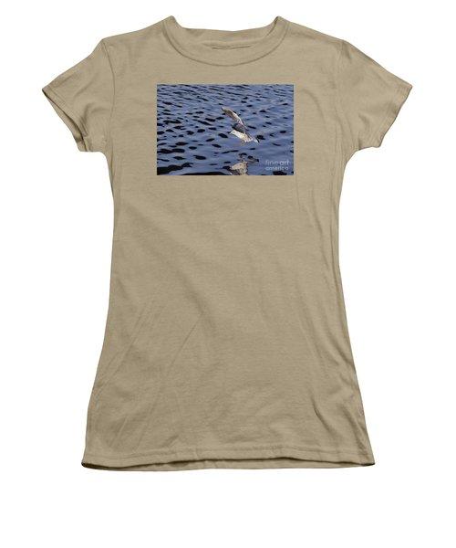 Water Alighting Women's T-Shirt (Junior Cut) by Michal Boubin