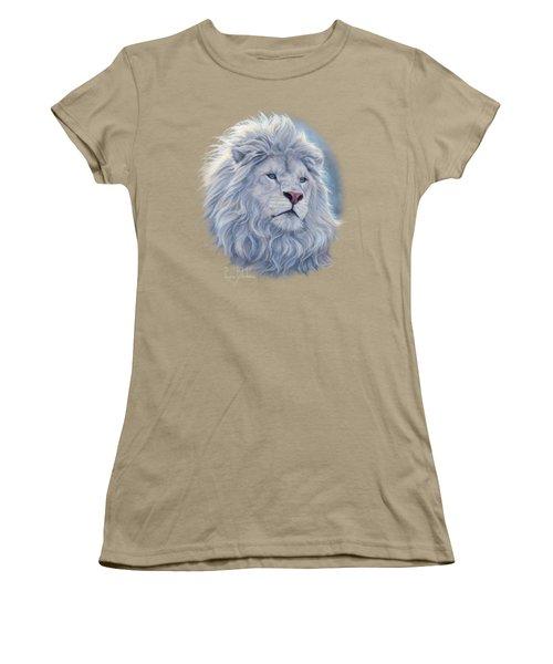 White Lion Women's T-Shirt (Junior Cut) by Lucie Bilodeau