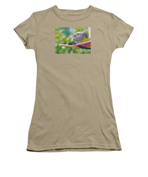 Young Crossbill Female  August  Indiana Women's T-Shirt (Junior Cut) by Rory Cubel