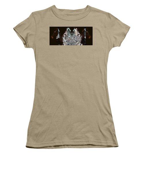 Zebraic Equation Women's T-Shirt (Junior Cut) by Stephanie Grant
