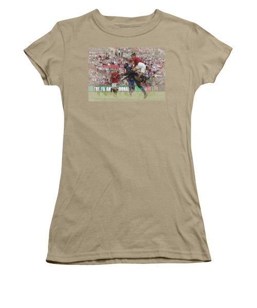 Zlatan Ibrahimovic Header Women's T-Shirt (Junior Cut) by Don Kuing