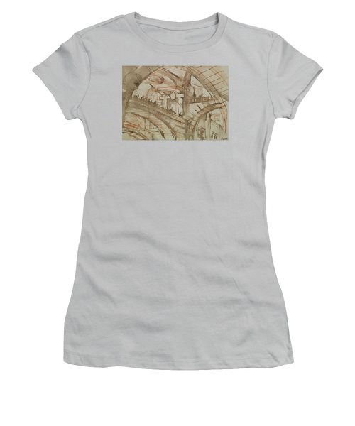 Drawing Of An Imaginary Prison Women's T-Shirt (Junior Cut) by Giovanni Battista Piranesi