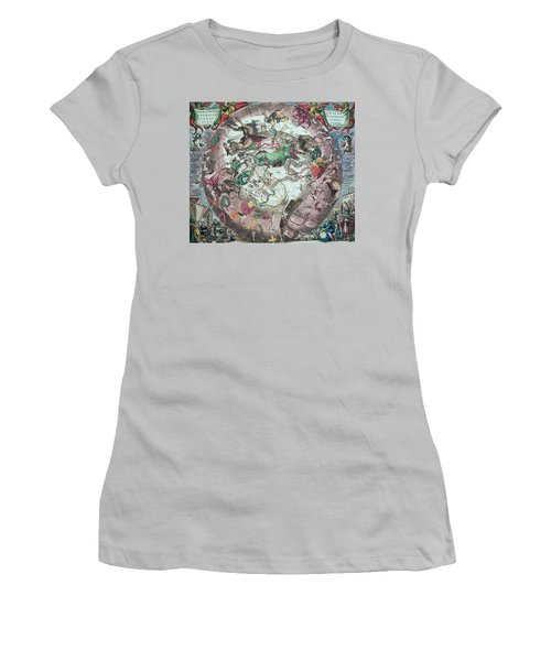 Constellations Of The Southern Hemisphere, From The Celestial Atlas, Or The Harmony Of The Universe Women's T-Shirt (Junior Cut) by Andreas Cellarius