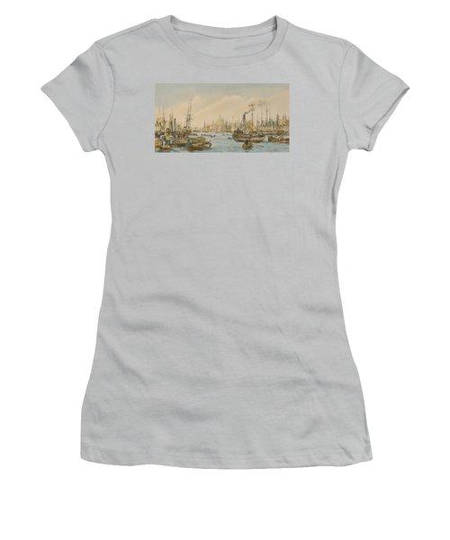 Looking Towards London Bridge Women's T-Shirt (Junior Cut) by William Parrot