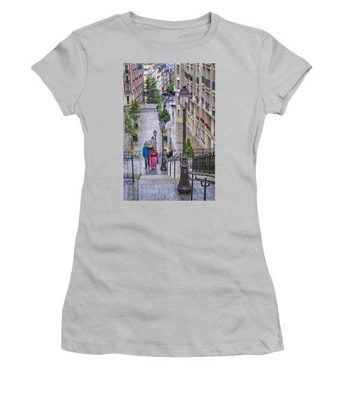 Paris Sous La Pluie Women's T-Shirt (Junior Cut) by Nikolyn McDonald