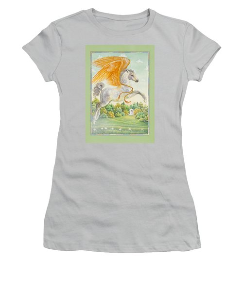 Pegasus Women's T-Shirt (Junior Cut) by Lynn Bywaters