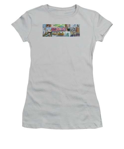 Postcards From New York City Women's T-Shirt (Junior Cut) by Jack Diamond