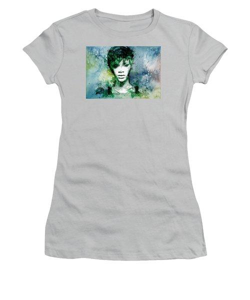 Rihanna 4 Women's T-Shirt (Junior Cut) by Bekim Art