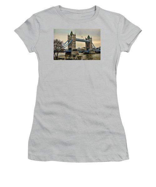 Tower Bridge On The River Thames Women's T-Shirt (Junior Cut) by Heather Applegate