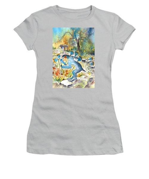 The Minotaur In Knossos Women's T-Shirt (Junior Cut) by Miki De Goodaboom