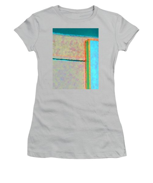 Women's T-Shirt (Junior Cut) featuring the digital art Up And Over by Richard Laeton