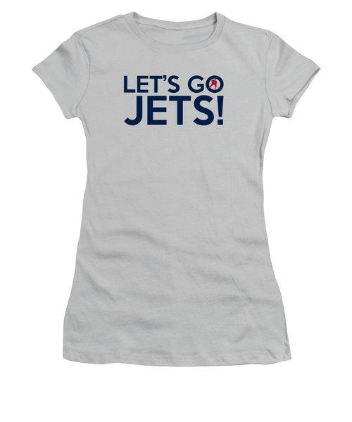 Let's Go Jets Women's T-Shirt (Junior Cut) by Florian Rodarte