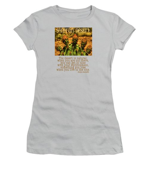 Prickly Pear Cactus Women's T-Shirt (Junior Cut) by Roger Passman