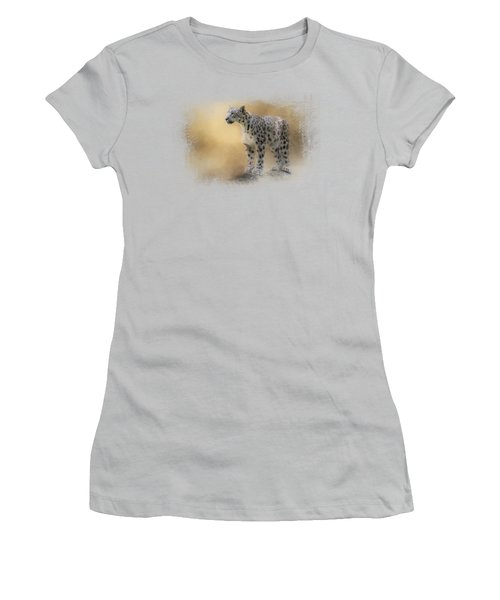 Snow Leopard Women's T-Shirt (Junior Cut) by Jai Johnson