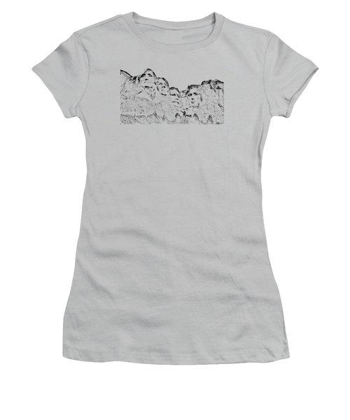 The Four Presidents Women's T-Shirt (Junior Cut) by John M Bailey