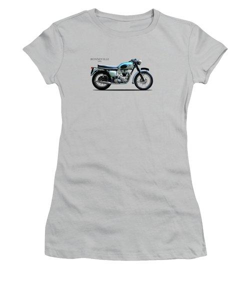 Triumph Bonneville Women's T-Shirt (Junior Cut) by Mark Rogan