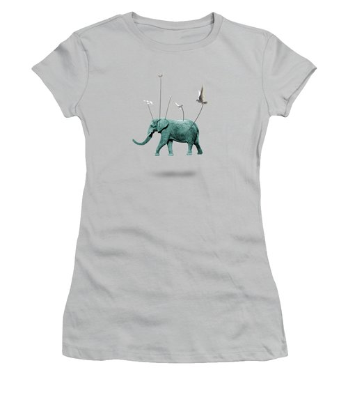 Elephant Women's T-Shirt (Junior Cut) by Mark Ashkenazi